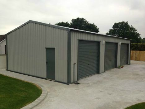 Metal Shed - pvc-coated Metal Cladding Finish
