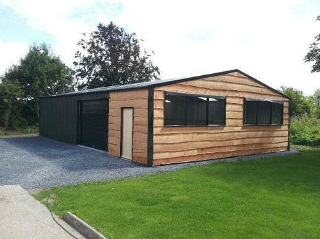 steel sheds garages farm buildings garden sheds supplied in kit form or erected any where in ireland pvc coated steel garden sheds heavy steel frame - Garden Sheds Ni